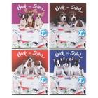 Тетрадь 12 листов клетка Dog school, обложка мелованный картон, микс