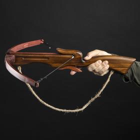 """Сувенирное деревянное оружие """"Арбалет"""", взрослый, коричневый, массив ясеня, 70 см"""