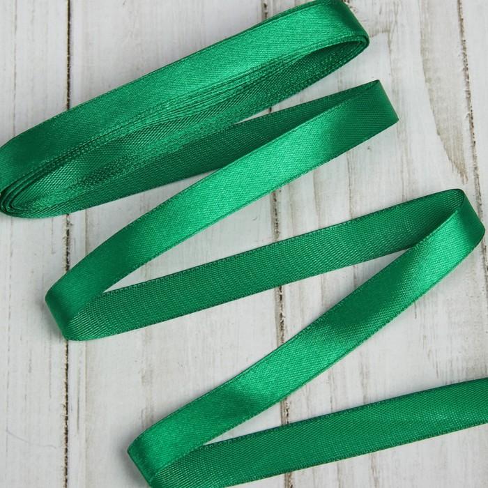 Лента атласная 12мм*5,4м (фас 10 шт) №019 зеленый Gamma
