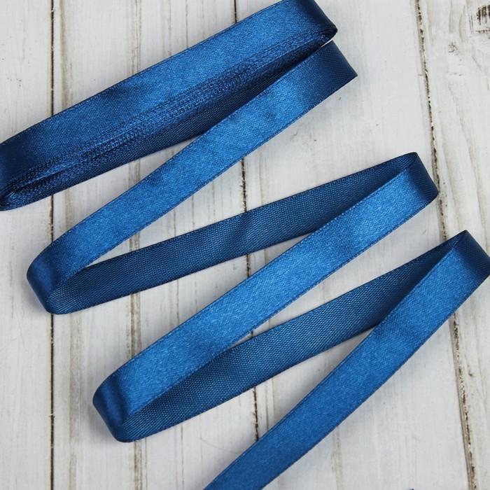 Лента атласная 12мм*5,4м (фас 10 шт)  №038 темно-синий Gamma