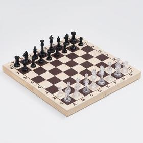 Шахматы обиходные (доска дерево 29 х 29 см, фигуры пластик, король h=5.8 см, пешка h=2.8 см)