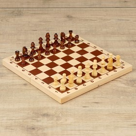 Шахматы обиходные (доска дерево 29х29 см, фигуры дерево, король h=5.2 см)