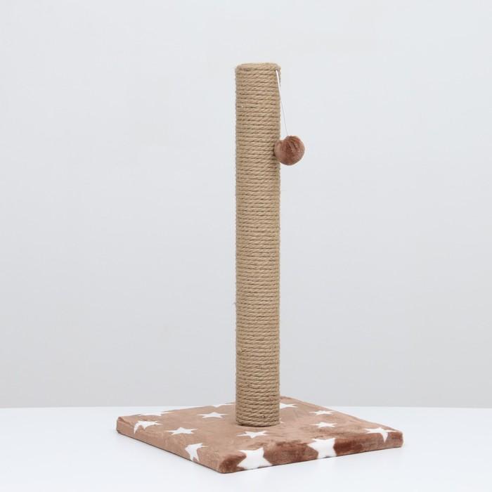 """Когтеточка """"Столбик"""" на подставке,  54 х 31 см, джут,  микс цветов - быстрая доставка"""