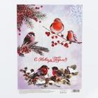 Декупажная карта «Птицы», 29,7 × 21 см,