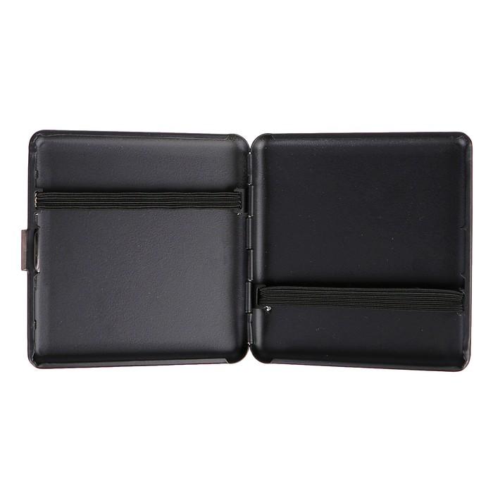 Портсигар квадратный, матовый, чёрный, 9х9 см