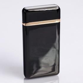 Lighter electronic, arc, USB, black, 3.5x10x10 cm.