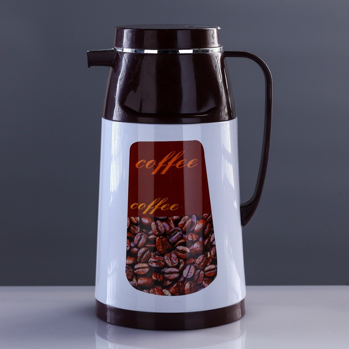 Термос-кофейник с ручкой «Утренний кофе», 1 л, 6-8 ч, микс