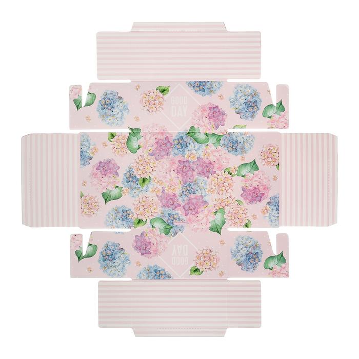 Коробка для кондитерских изделий с PVC-крышкой «Хороший день», 12 × 6 × 11,5 см