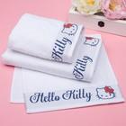 Полотенце детское Hello Kitty 50х90 см, цвет белый 100% хлопок, 400 г/м² - фото 105552463