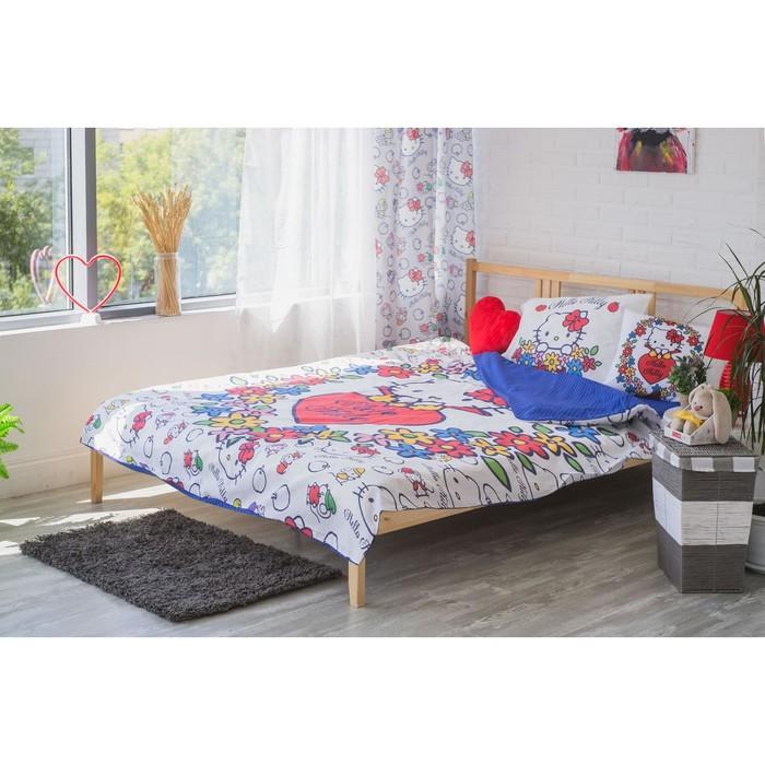 Детское постельное бельё Hello Kitty 1,5 сп, цвет белый, 148х210, 148х215, 50х70
