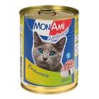 Влажный корм MonAmi  для кошек, цыпленок, ж/б, 350 г