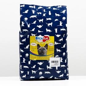Сухой корм MonAmi для кошек, с мясом курицы, 10 кг