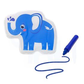 Игрушка для ванны с пищалкой «Слоник» + водный карандаш