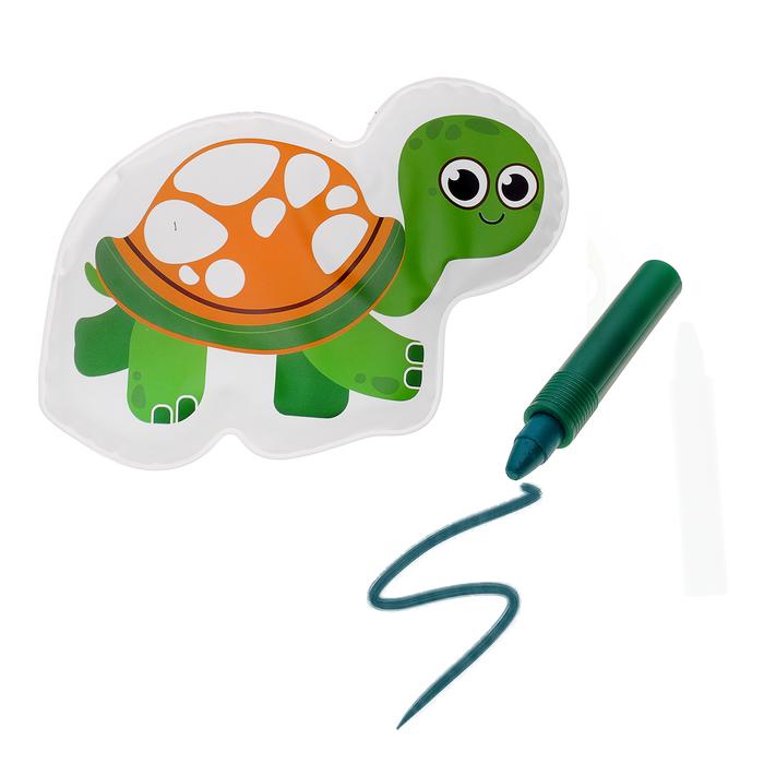 Игрушка для ванны с пищалкой «Черепашка» + водный карандаш