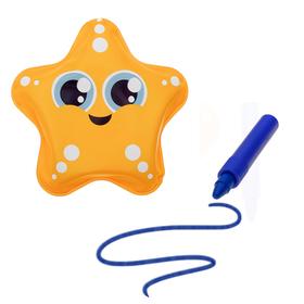 Игрушка для ванны с пищалкой «Звёздочка» + водный карандаш