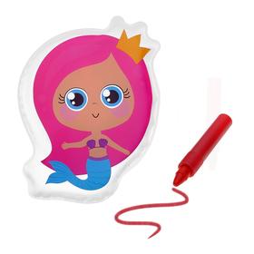 Игрушка для ванны с пищалкой «Русалочка» + водный карандаш