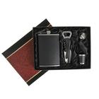 Подарочный набор 4в1 черный: фляжка 270 мл, воронка, рюмка и открывалка