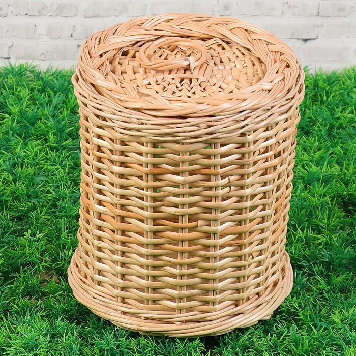 Туес «Плетёнка», 19х19х21 см, ива