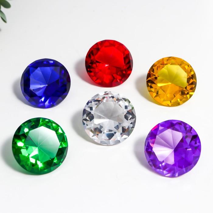 Стекло бриллианты (набор 6 шт.) d=4 см в коробке