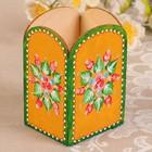 Карандашница «Цветы», ручная роспись, 7х6х10,5 см