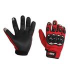 Перчатки для езды на мототехнике, красные