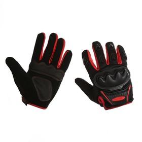 Перчатки для езды на мототехнике, черно-красные
