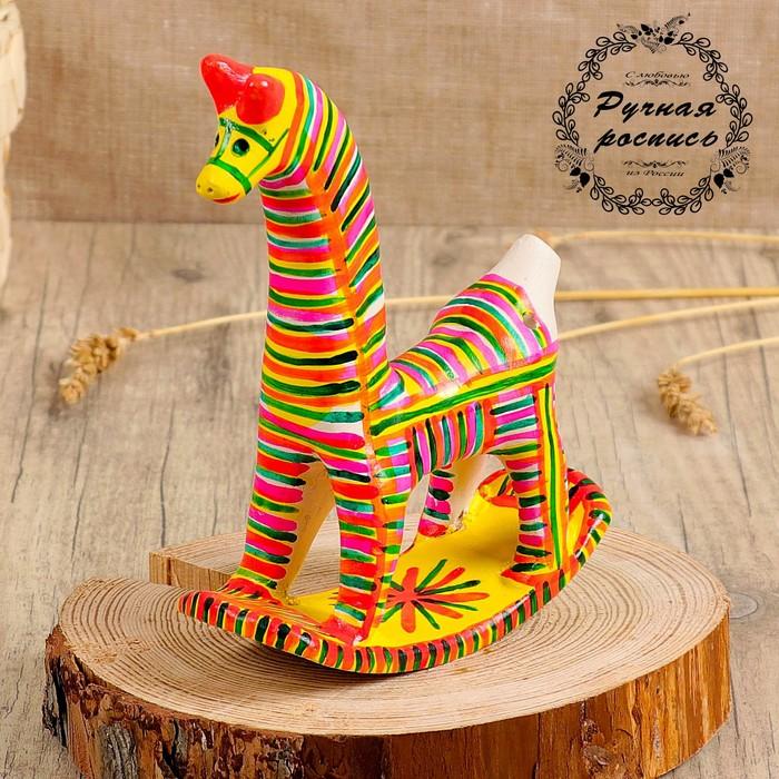 Филимоновская игрушка «Конь-качалка»