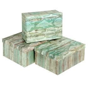 """Набор коробок 3в1 """"Рыбалка"""", 28,5 х 21.5 х 12.5 - 24.5 х 17.5 х 10.5 см в Донецке"""