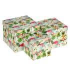 "Набор коробок 3в1, ""Фламинго"", 17,5 х 17,5 х 13.7 - 12 х 12 х 11,5 см"