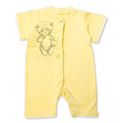 Комбинезон-песочник детский, рост 74 см, цвет жёлтый MP064131_М