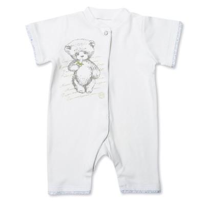 Комбинезон-песочник детский, рост 62 см, цвет белый MP064131_М