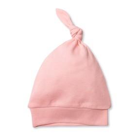 Шапка детская 'Узелок', размер 40 см, цвет розовый M090205 Ош