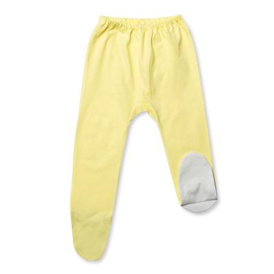 Ползунки детские, рост 68 см, цвет жёлтый/белый