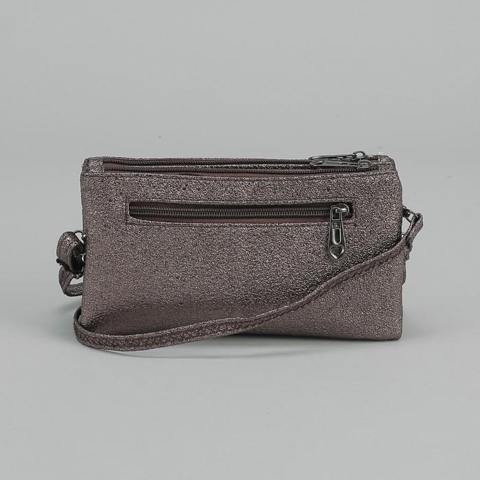 e543a2072294 ... Клатч женский, 2 отдела на молниях, наружный карман, с ручкой, длинный  ремень ...