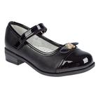 Туфли дошкольные для девочки арт. SC-21065 (чёрный) (р. 28)