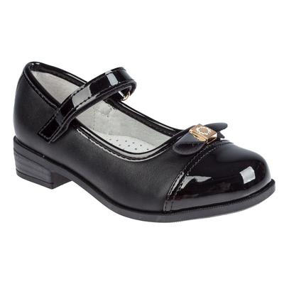 Туфли для девочки арт. SC-21065 (чёрный) (р. 28)