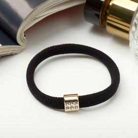 Резинка для волос 'Палермо' 6 см квадрат черный Ош