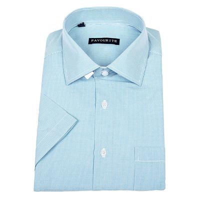 Сорочка  мужская с коротким рукавом 115014s_FAV цвет бирюзовый, р-р 40-41