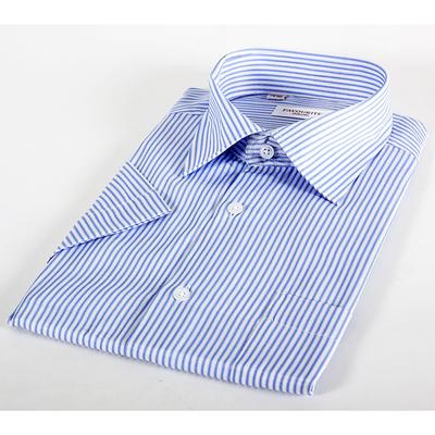 Сорочка  мужская с коротким рукавом 203169s_FAV цвет голубой, р-р 42 (176-182)