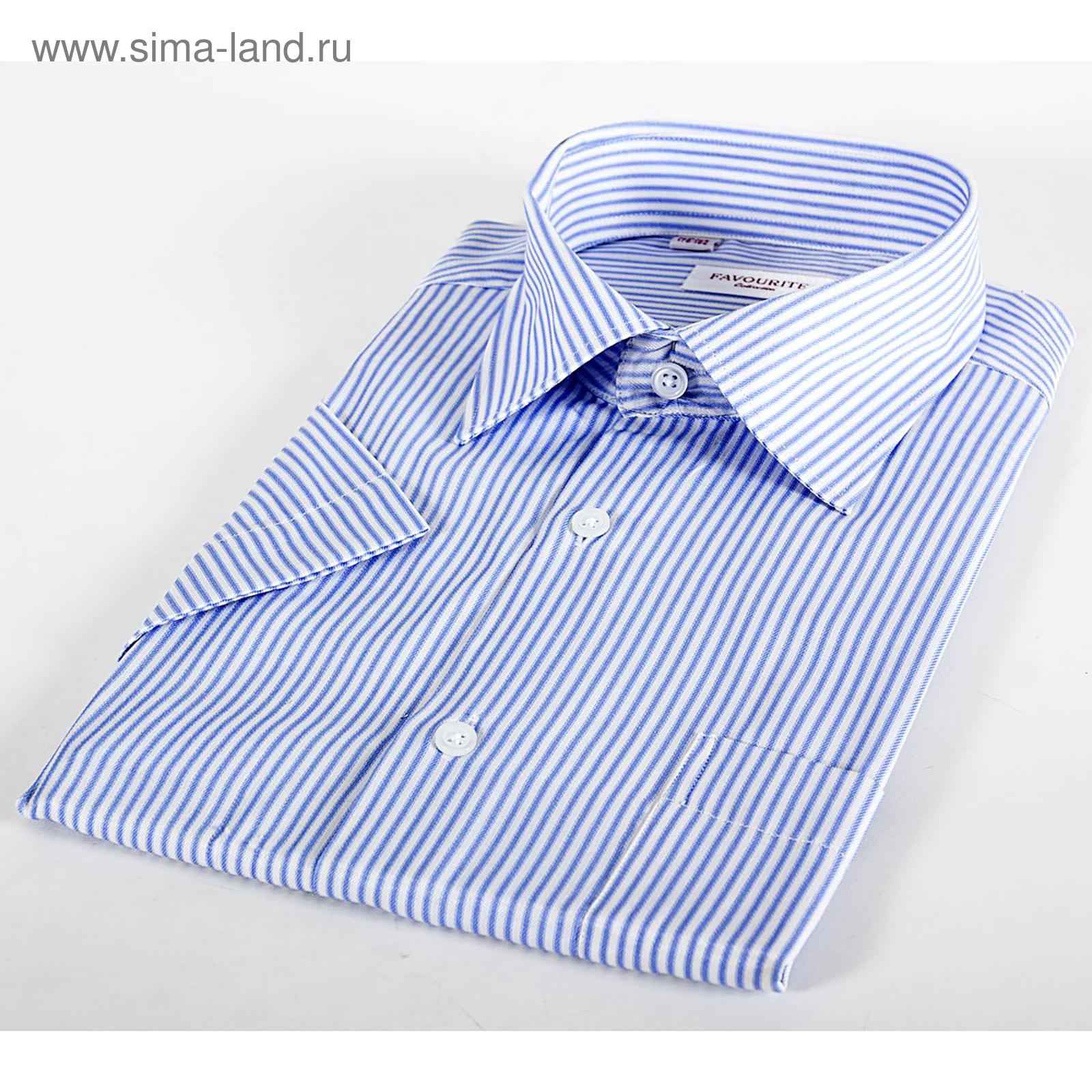 a256a9e1e6537a3 Сорочка мужская с коротким рукавом 203169s_FAV цвет голубой, р-р 41 (176-
