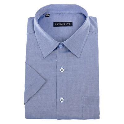 Сорочка  мужская с коротким рукавом 703043s_FAV цвет синий, р-р 40 (176-182)