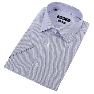Сорочка приталенная мужская с коротким рукавом R104136s_FAV цвет синий, р-р 41-42