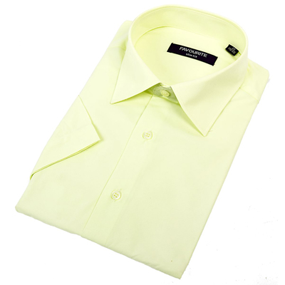Сорочка приталенная мужская с коротким рукавом RDF2001s_FAV цвет светло-жёлтый, р-р 42 (170-176)   3