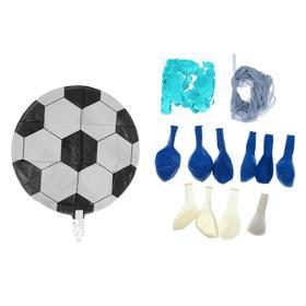 """Фонтан из шаров """"Футбол"""", для мальчика, с конфетти, латекст, фольга, 10 шт. - фото 7429547"""