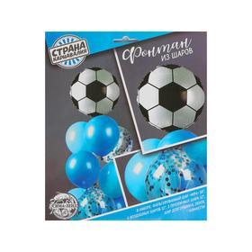 """Фонтан из шаров """"Футбол"""", для мальчика, с конфетти, латекст, фольга, 10 шт. - фото 7429548"""