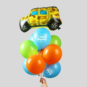 """Фонтан из шаров """"Детский праздник"""", латекс, фольга, 10 шт."""