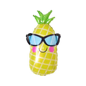 """Balloon foil """"Pineapple with glasses"""" 28"""""""