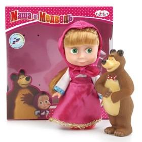 Кукла «Маша» с мишкой, звуковые функции, 15 см