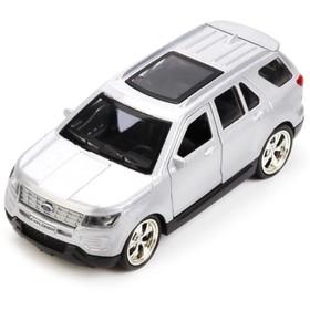 Машина металлическая инерционная Ford Explorer, 12 см, открывающиеся двери, МИКС Ош