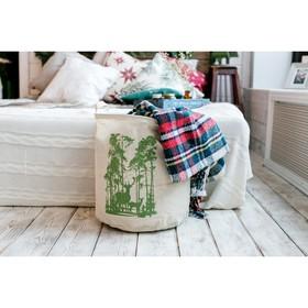 Корзинка текстильная 'Лес' 35 х 40 см Ош